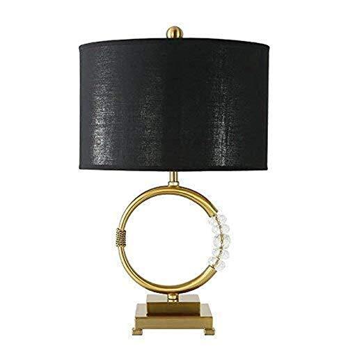 DJY-JY Godess4 Nordic Creative American Simple Fashion Decoración Cristal Dorado LED Luz Modelo Sala Sala Dormitorio Lámpara de Escritorio 42 * 55 Simple Romántica