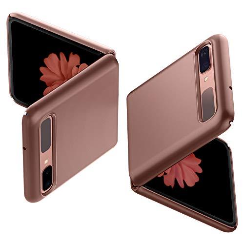 Spigen Thin Fit Hülle Kompatibel mit Samsung Galaxy Z Flip -Bronze