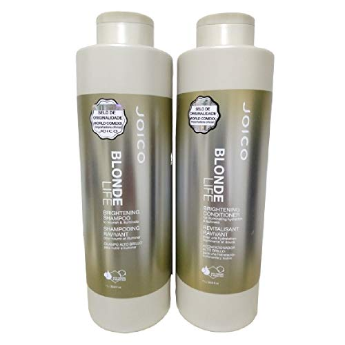 Kit Joico Blonde Life Iluminador Para Cabelos Loiros Shampoo 1000ml + Condicionador 1000ml