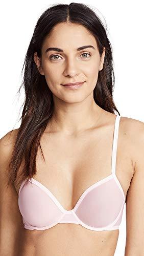 Calvin Klein Underwear Women's Sheer Marq Demi Unlined Bra, Nymph's Thigh, Pink, 34D