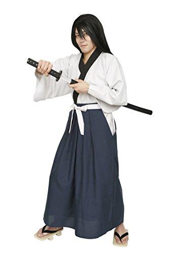 Los hombres grandes series ladroen del traje de samurai espadachin ~ 180cm [Borrar autentica piedra]