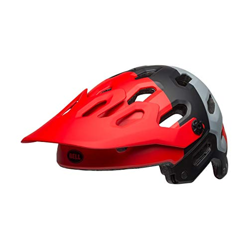 BELL Super 3 Casco MTB, Unisex Adulto, Downdraft Matt Crimson/Negro, Small