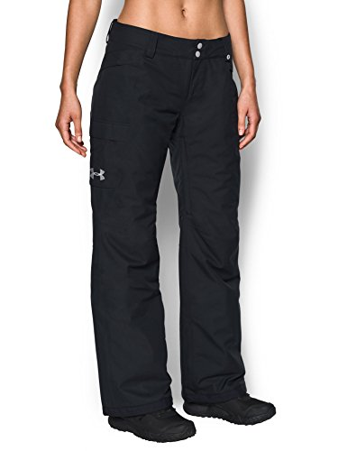 Under Armour Outerwear Women's Standard UA CGI Chutes Ins Pants, Black (001)/Glacier Gray, X-Small