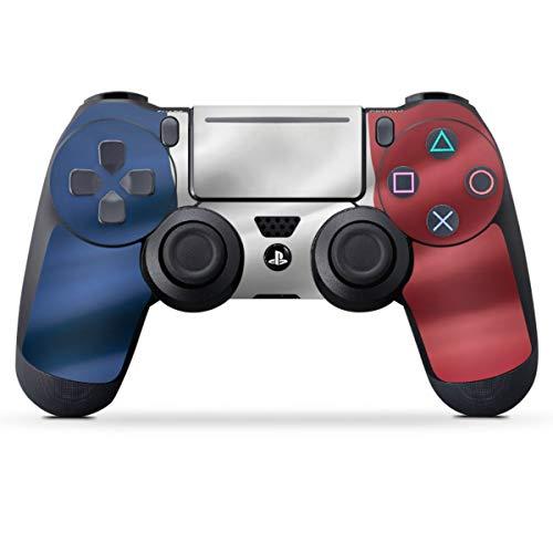 DeinDesign Skin kompatibel mit Sony Playstation 4 PS4 Pro Controller Folie Sticker Flagge Frankreich Flaggen