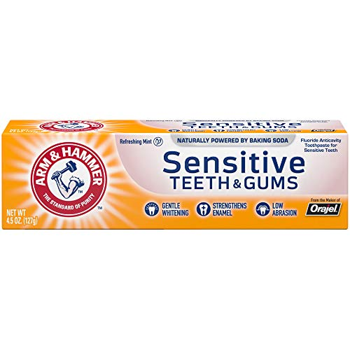 ARM & HAMMER Sensitive Teeth & Gums Toothpaste-Multi-Pack of 12 4.3oz Tubes, Refreshing Mint- Fluoride Toothpaste