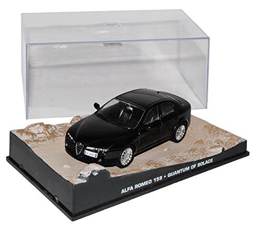 Ixo Alfa Romeo 159 Limousine Schwarz 2005-2012 EIN Quantum Trost James Bond 1/43 Modell Auto mit individiuellem Wunschkennzeichen
