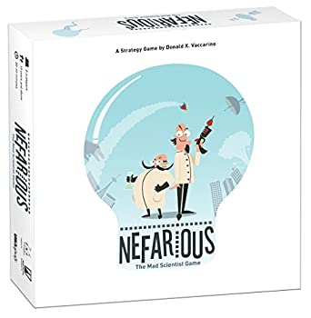 Nefarious  The Mad Scientist Game! Board Game