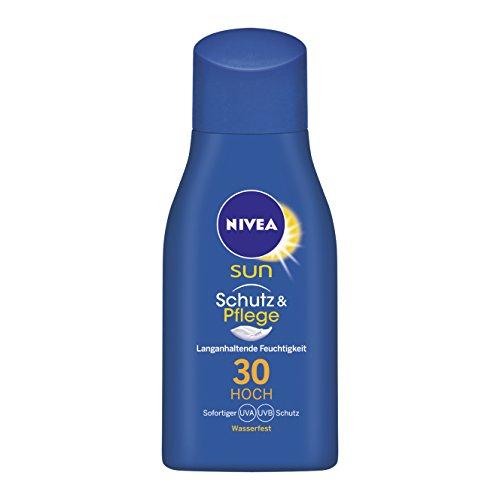NIVEA SUN Sonnenmilch mit Lichtschutzfaktor 30, Mini, 30 ml Flasche, Schutz & Pflege