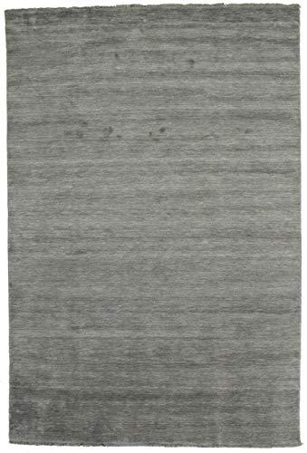 CarpetVista Alfombra Handloom Fringes - Gris Oscuro 200x300 Alfombra Moderna