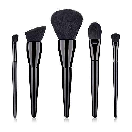 LEXUPE 15 pinceaux de Maquillage Set Professionnel Visage Ombre à paupières Eye-Liner Foundation Blush(Blanc,Soies de Fibres Fines sélectionnées) (Noir, 34)
