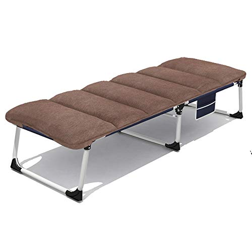 ZQS Folding Bed Chair Portable Folding Bed Hospital Accompanying Bed Household Leisure Bed Outdoor Travel Bed Camping Bed Camping Bed Folding Bed, 3 Styles Indoor and Outdoor can (Color : B)