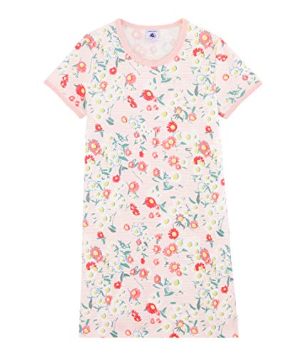Petit Bateau 5353601 Camicia da Notte, Multicolore (Marshmallow/Multico Bfq), 2 Anni Bambina