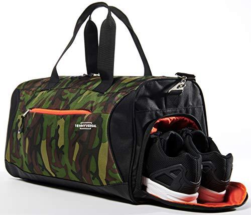 TOMMYVERSAL Sporttasche Herren Damen Camouflage stylische Fitnesstasche Reisetasche Sporttasche mit Schuhfach Sporttasche für Männer und Frauen