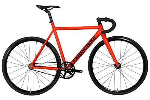 FabricBike Light PRO - Fixed Gear Fahrrad, Single Speed Fixie Starre Nabe, Aluminium Rahmen und Gabel, Räder 28