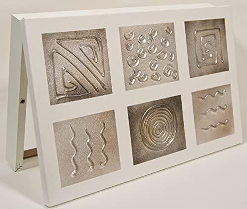 Cuadroexpres - Tapa de Contador Pintada a Mano 37x22x4 cm (Interior) Caja Decorativa para el Cuadro Eléctrico. En Melamina Blanca. Cierre de imán y Tornillos para Fijar en la Pared