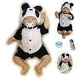 ZIYIUI Réaliste Réaliste Reborn Sommeil Bébé Garçon 18 Pouces 45 CM Réel À La Poupée Avec Panda Vêtements Meilleur Cadeau Pour L'âge 3+