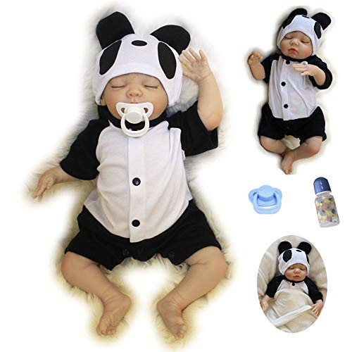 ZIYIUI 20 Inch 50 cm Reborn Baby Dolls Boy Silicone Vinyl Lifelike Doll Like Real with Eyes to Cheap Magnetism Toy