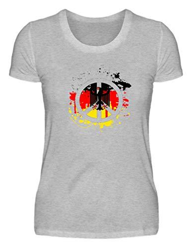 Generic Deutschland Peace Frieden Bundesadler Flagge Fahne - Schlichtes Und Witziges Design - Damenshirt