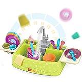 Early Learning Spielzeug für 3 Jahre Kinder Elektronisches Spülbecken Spielzeug Set mit fließendem Wasser