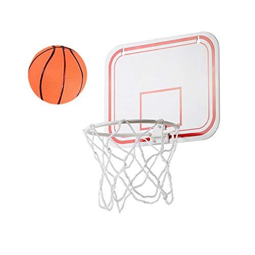 Bumplebee Mini Basketballkorb Kinder Indoor Folding Tragbare Wandmontage Basketballkorb mit Basketball und Pumpe Ohnebohren Saugnapf Basketballbrett mit Korb für Kinder Zimmer (weiß)