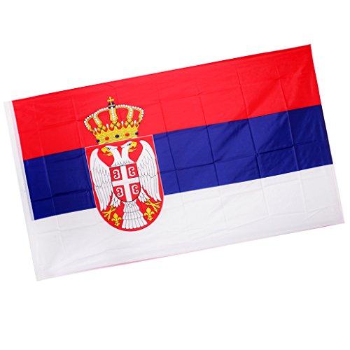 Sharplace Serbien Fahne Flagge 150x90cm