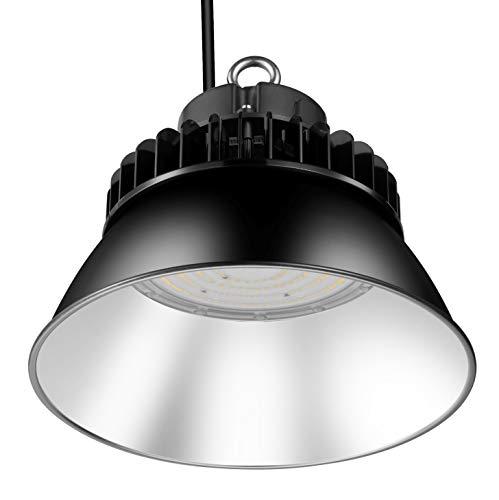 GRANDLUMEN Foco LED de 150 W, iluminación LED para salas, reflector de aluminio, UFO LED High Bay Light 5000 K, 135 LM/W, tipo de protección IP65 [Clase energética A++]