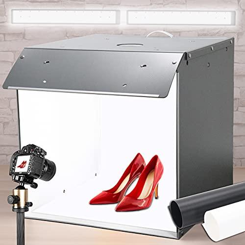 Box fotografico, Tenda Studio light box 40X40X40cm Orthland studio fotografico 1%-100% regolazione della luminosità, Professionale Luce soffusa lightbox
