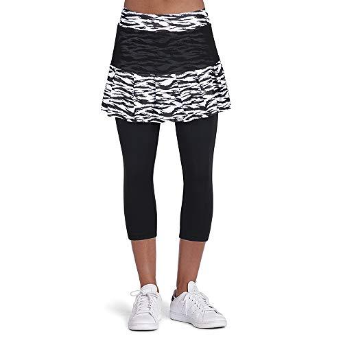 ANIVIVO Tennis Skirted Leggings Women with Pockets Leggings with Skirts& Women Tennis Tight Tennis Clothing(Zebra Skirts,S)
