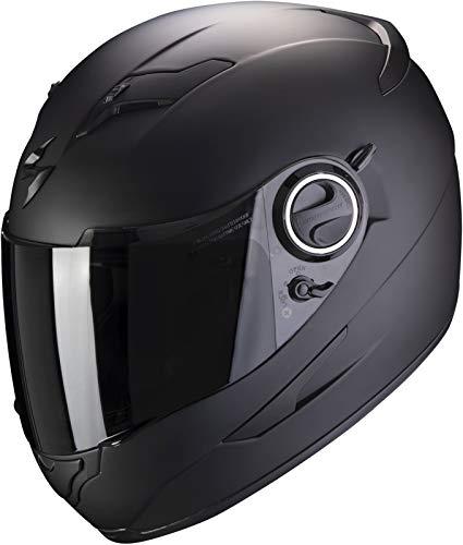 Scorpion Integralhelm EXO-490 SOLID schwarz matt mit SpeedView Sonnenblende, L 59/60
