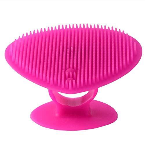 Brosse nettoyante pour le visage en silicone HZSM avec équipement de massage et de soins en profondeur agréable, instrument de beauté portable pour femme (3 paquets de rose)