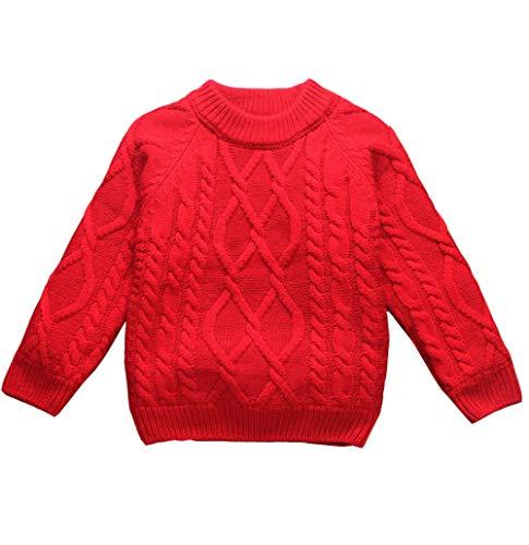 女の子男の子 ズ ベビー キッズ ジュニア 長袖 お出かけ ニットカーディガン セーター 裏起毛 遊び着 通学 普段着 通園 セーター 4種の色80-160cm 140cm, 赤い