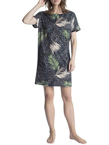 Calida Cosy Cotton Shore Sleepshirt Kurzarm, Länge 90cm Damen