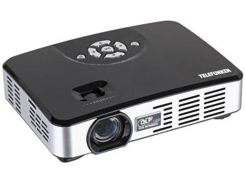 Telefunken DLP400 Mini LED-DLP-Projektor (1280 x 800 Pixel, 400 ANSI Lumen, Kontrast: 1000:1, HDMI, VGA, USB 2.0)