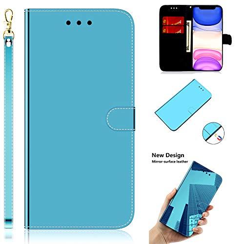 Klassisch Modisch Diamond für Huawei Y5 2019,Sparkle Funkeln Bling Glitter Glitzer Leder Stand Funktion Magnet Kartenfach Bookstyle