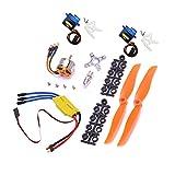 Demoyu XXD HW A2212 2200KV 2212 Motor sin escobillas 30A ESC Motor 6035 Propulsor SG90 9G Micro Servo para RC Helicóptero de avión de ala Fija (Color : Full Set)