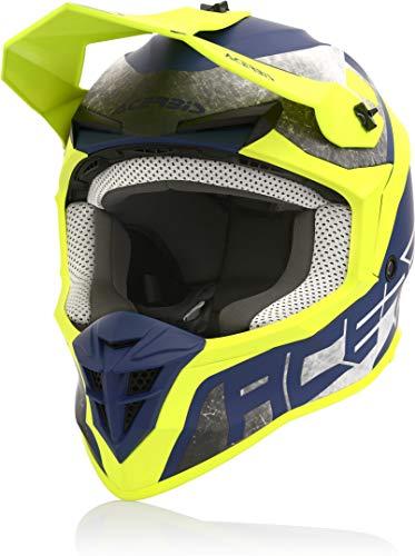 Acerbis Linear Casco Motocross Giallo/Blu L (59/60)
