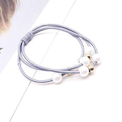 PLI Hair Rope Multi-Band Band SimCity Hair Ties para Mujeres nias Diadema elstica Accesorios para el Cabello China Azul Claro