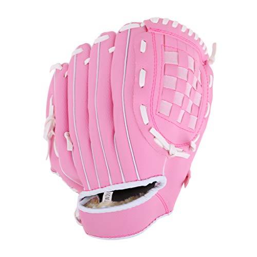 SM SunniMix Durable Baseball Softball Pitcher Linkshänder Handschuh Für Frauen Männer Jugend Kinder - Rosa M