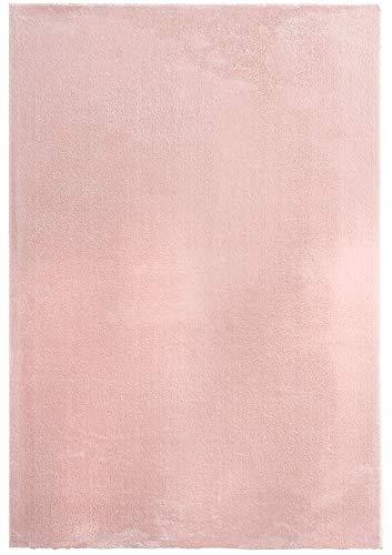 """Mia´s Teppiche """"Olivia"""" Wohnzimmer Teppich, Kurzflor, 80x150 cm, Rosa"""