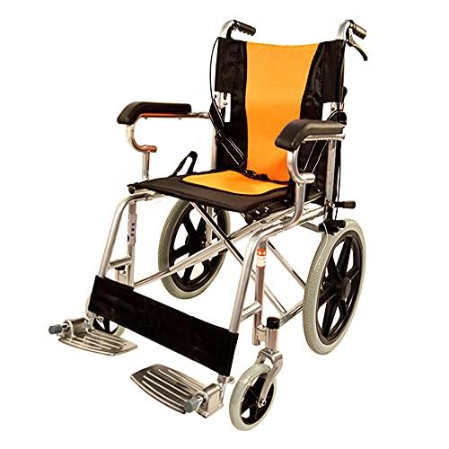 wheelchair Silla de Ruedas Ligera Silla de Ruedas Plegable de aleación de Aluminio...