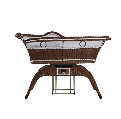 Babybed - elektrisch wiegbed, automatische shaker, smart, pasgeborenen, rotan slaapmand, ontspannende moederhanden, geschikt voor 0 tot 3 jaar oud