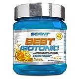 Best Isotonic | Bebida isotónica hidratante con vitaminas, glutamina, sales y minerales | Para ciclismo, running y fitness | Sales minerales para el deporte | 500 g (Naranja)