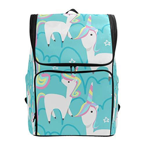 Emoya Mochila Escolar para niñas Linda Hello Unicorn Star Bookbag Casual Mochila Teen Boys Schoolbag