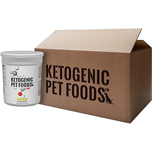 Ketogenic Pet Foods - CHICKEN - High Protein, High Fat, Low Carb, Natural Dog & Cat Food - Case Pack - 8,18.5 oz. canisters