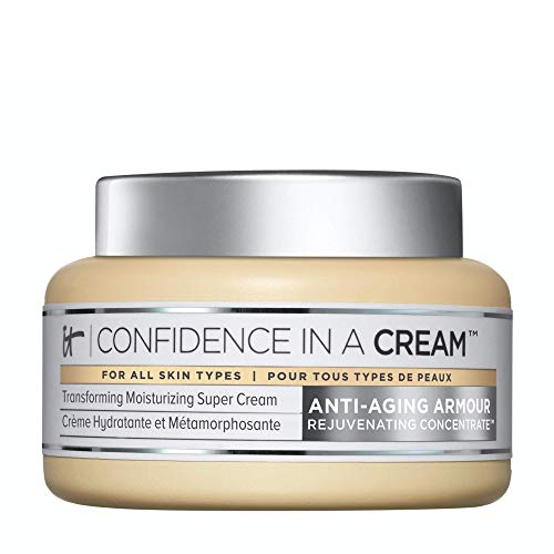 IT Cosmetics Confidence in a Cream - Anti-Aging Facial Moisturizer - Reduces the Look of Wrinkles & Pores, Visibly Brightens Skin - With Hyaluronic Acid & Collagen - 4.0 fl oz