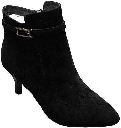 Oudan Damen High Heel Stiefeletten (Farbe   Schwarz Schwarz Schwarz Größe   37EU)  Rabatt