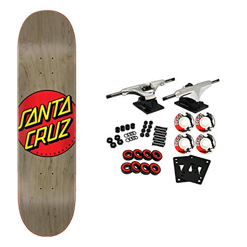 "Santa Cruz Skateboards Complete Classic Dot Grey 8.375"" x 31.83"""