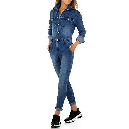 Ital Design Damen Jeans Jumpsuit Overall M.Sara Denim Gr. S Blau