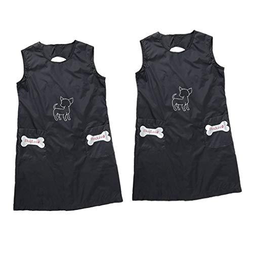 freneci 2 Stück Antistatische Haustierpflege Schürze Hundefriseur Arbeitskleidung Kittel Kleidung Größe M.