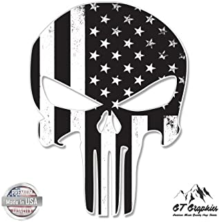 GT Graphics Punisher Skull Subdued American Flag Tactical - Vinyl Sticker Waterproof Decal